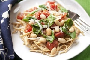 wic recipe pasta spinach tomatoes and beans